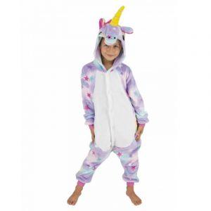 Party Pro Déguisement combinaison licorne avec étoiles enfant 4-6 ans (110 cm)