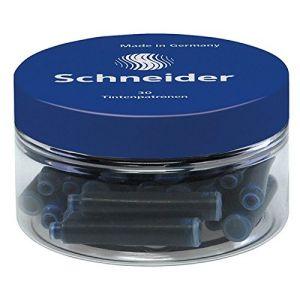 Schneider (Papeterie) Pot de cartouche d'encre - Bleu - Lot de 30 - Pot de 30 cartouches d'encre bleu universelle