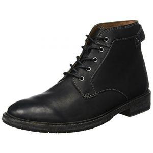 Clarks Clarkdale Bud, Bottes et Bottines Classiques Homme, Noir (Black Leather-), 42 EU