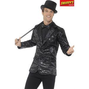 Smiffy's Veste disco noir à sequins luxe homme M