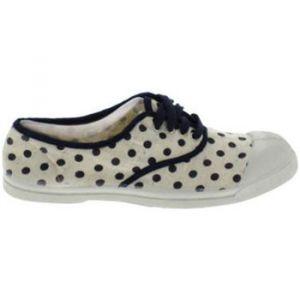 Bensimon Chaussures enfant Toile Lacet Dots C Ecru