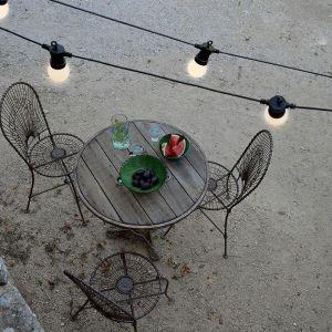 Blachère illumination Guirlande LED guinguette blanc chaud 4.5 mètres