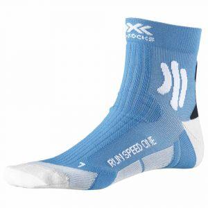 X-Socks Run Speed One Chaussettes course à pied Homme, teal blue /arctic white EU 39-41 Chaussettes de compression