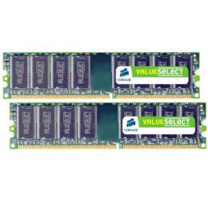 Corsair VS2GBKIT400C3 - Barrette mémoire Value Select 2 Go DDR 400 Mhz CL3