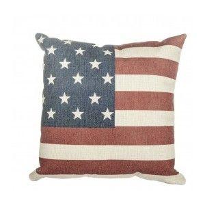 Coussin drapeau américain et anglais