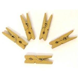 Graine Créative 24 mini pinces à linge de 30mm - dorées
