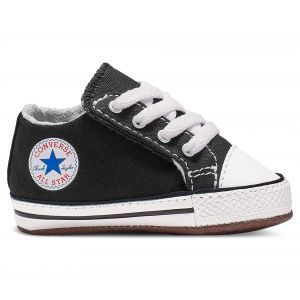 Converse Chaussures casual Chuck Taylor All Star tige moyenne à scratch en toile Cribster Canvas Color Noir - Taille 18