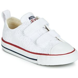 Converse Baskets basses enfant CHUCK TAYLOR ALL STAR 2V BROADERIE ANGLIAS OX blanc - Taille 23,24,25,26