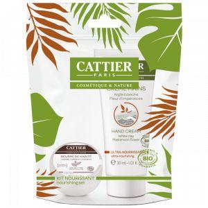 Cattier Kit nourrissant - Beurre de karité et crème mains ultra-nourrissante