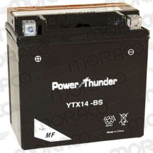 Power Thunder Batterie YTX14-BS AVEC ACIDE