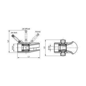 R.Pons Robinet jet-diffuseur hugjet - DN33