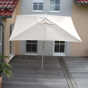 Mendler Parasol En Aluminium N23, 2x3m, Rectangulaire, Inclinable, Inoxydable Crème