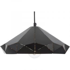 Beliani Lampe suspension noir NEVOLA