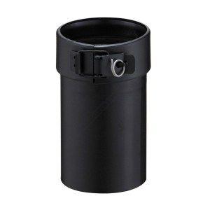 Poujoulat Adaptateur pour poêle (pelet) PGI, diamètre 080 mm, noir graphite (RAL 9030) Réf. AP 80PGI DD / 37080486