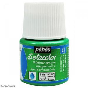 Pebeo Peinture tissu Setacolor - Moiré Opaque - Chlorophylle - 45 ml