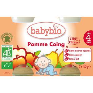 Image de BabyBio Petit Pot Fruit : Pomme-Coing 2 x 130g - dès 4 mois
