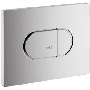 Plaque de commande WC ARENA Cosmopolitan. double touche ou interrompable. pour mécanisme pneumatique. montage horizontal. 156x19