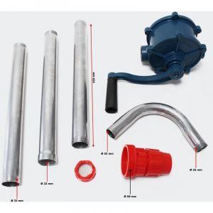 Pompe à manivelle 22 litres par minute vide fût baril pour diesel fuel gasoil