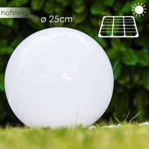 Hofstein boule lumineuse Solar LED Acier inoxydable, 2 lumières Moderne Extérieur Kugelleuchte