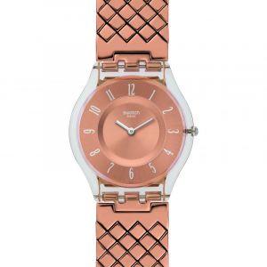 Swatch Femme Digital Quartz Montre avec Bracelet en Plastique SFE110GA