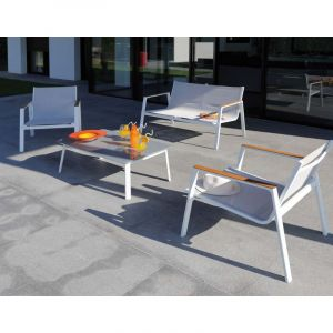 Proloisirs Salon de jardin en aluminium Venus 4 personnes