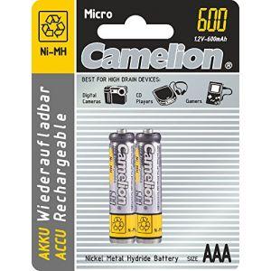 Camelion NiMH 2x AAA/LR3 1.2V 600mAh