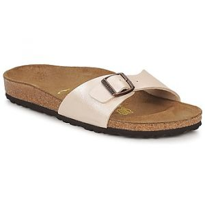 Birkenstock Madrid - Mules - Mixte Adulte - Beige (Graceful Pearl White) - 41 EU