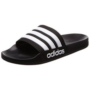 Adidas Adilette Shower, Chaussures de Plage et Piscine Homme, Noir (Core Black/Footwear White/Core Black 0), 39 1/3 EU