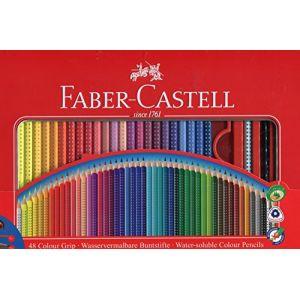 Faber-Castell Set de 48 crayonsde couleur avec grip Avec accessoires