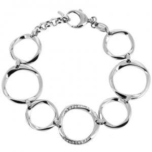 Fossil JF01145040 - Bracelet pour femme en métal argenté