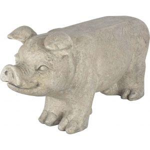Esschert design AV13 - Banc de jardin cochon en pierre