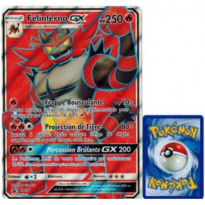 Asmodee Felinferno Gx Carte Pokemon Sm38 Jumbo 250 Pv Full Art