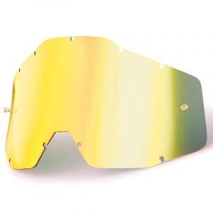 100% Ecran pour masque Racecraft, Accuri et Strata jaune