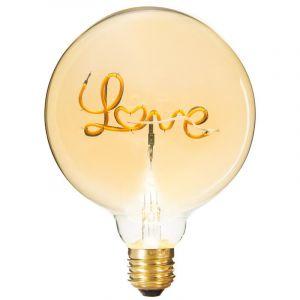 """Atmosphera Ampoule Décorative à Filament """"Love"""" 17cm Ambre"""