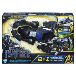 Hasbro Black Panther - Véhicule transformable avec figurine 15cm