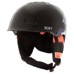 Roxy Happyland Casque de Ski/Snowboard pour Fille, Medieval Blue Arctic Leaves, FR : XS (Taille Fabricant : 50)
