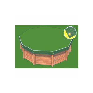 Bâche hiver Eco verte compatible piscine Ness diam 4.60m
