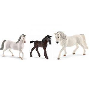 Schleich Figurines de chevaux lipizzan (etalon, poulain, jument)