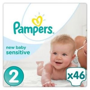 Pampers New Baby Sensitive taille 2 (3-6 kg) - 46 couches