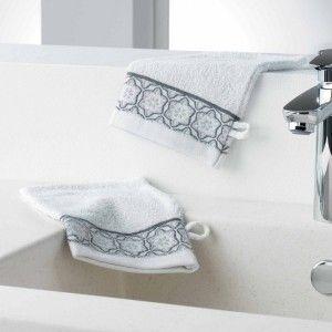 Lot de 2 gants de toilettes Adelie Blanc