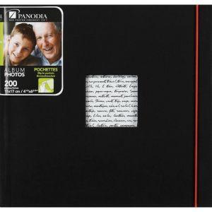 Panodia Album photo pochettes Linéa noir 200 photos 11x17 cm - Taille 11 X 17 CM