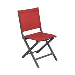 Chaise de jardin Max couleur gris rouge