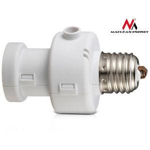 Maclean – MCE21 W – Douille E27 avec capteur crépusculaire et minuteur
