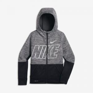 Nike Sweat à capuche de training entièrement zippé Dri-FIT Therma pour Garçon plus âgé - Gris - Taille M