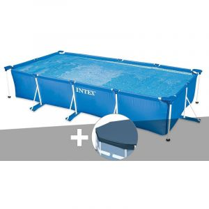 Intex Kit piscine tubulaire rectangulaire 4,50 x 2,20 x 0,84 m + bâche de protection