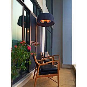 Fargau Parasol chauffant lampadaire design (Noir)