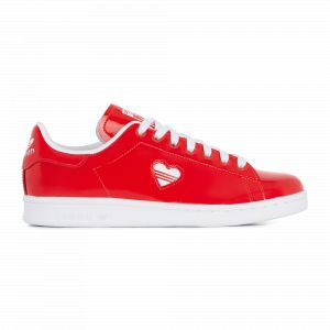 Adidas Stan Smith W, Chaussures de Gymnastique Femme, Rosso FTWR White/Active Red, 40 EU