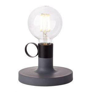 Brilliant AG Lampe HAILEE 1x60W E27 Béton-Noir