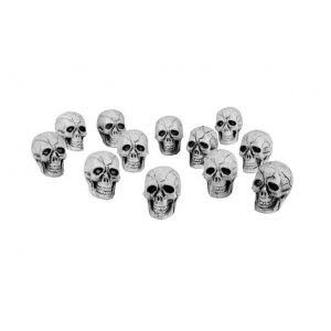 12 têtes de mort Halloween