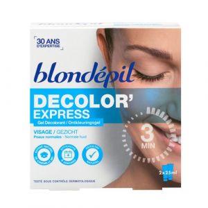 Blondépil Gel décolorant visage, à l'huile essentielle de camomille bleue apaisante